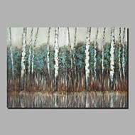 billiga Abstrakta målningar-Hang målad oljemålning HANDMÅLAD - Abstrakt / Landskap Klassisk / Moderna Duk