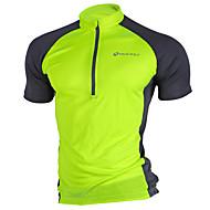 Nuckily Erkek Kısa Kollu Bisiklet Forması - Pembe Gri Açık Yeşil Bisiklet Forma Üstler Nefes Alabilir Hızlı Kuruma Ultravioleye Karşı Dayanıklı Spor Dalları Polyester Dağ Bisikletçiliği Yol