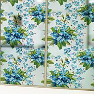 baratos Películas e Adesivos de Janela-Filme de Janelas e Adesivos Decoração Floral / Comum Flor PVC Adesivo de Janela