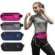 billige Rygsække og tasker-Bæltetasker for Cykel / Rejse / Løb Sportstaske Letvægt / Regn-sikker / Hurtigtørrende Løbetaske Nylon Blå / Grå / Marineblå