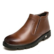 cheap Men's Boots-Men's Snow Boots Patent Leather Winter Casual Boots Booties / Ankle Boots Gradient Black / Brown / Outdoor