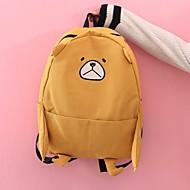 baratos Mochilas-Mulheres Bolsas Tela de pintura mochila Ziper Personagem Rosa / Amarelo / Cinzento Claro