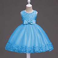 Παιδιά Κοριτσίστικα Γλυκός Γεωμετρικό Αμάνικο Φόρεμα Θαλασσί