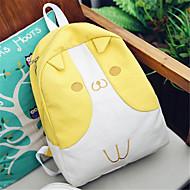 baratos Mochilas-Mulheres Bolsas Tela de pintura mochila Ziper Personagem Amarelo