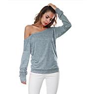 Skulderfri Tynd Dame - Ensfarvet I-byen-tøj T-shirt