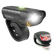 billige Sykkellykter og reflekser-Frontlys til sykkel / Baklys til sykkel / sikkerhet lys LED Sykkellykter XP-G2 Sykling Vanntett, Bærbar, Fort Frigjøring Li-polymer 350 lm Innebygd Li-batteridrevet Naturlig Hvit / Rød Camping