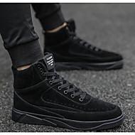 Homens Sapatos Confortáveis Microfibra Outono Casual Tênis Preto / Cinzento / Amarelo