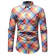 Hombre Básico Camisa Geométrico Hoja tropical