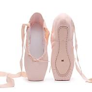 billige Ballettsko-Dame / Jente Ballettsko Lerret Flate Flat hæl Kan spesialtilpasses Dansesko Rosa og Hvit