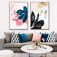 billige Innrammet kunst-Innrammet Lerret / Innrammet Sett - Botanisk / Blomstret / Botanisk Plastikk Tegning