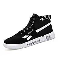 baratos Sapatos Masculinos-Homens Sapatos Confortáveis Jeans Outono Casual Tênis Respirável Preto e Dourado / Branco / Preto