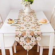billige Bordduker-Moderne 100g / m2 Polyester Strik Stretch Kvadrat Bordløpere Blomstret Borddekorasjoner 1 pcs