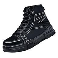 baratos Sapatos Masculinos-Homens Coturnos Jeans Inverno Casual Botas Respirável Botas Cano Médio Preto / Bege / Marron