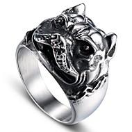 Herre Vintage Stil Skulptur Ring - Titanium Stål Hunde Stilfuld, Vintage, Punk 8 / 9 / 10 / 11 / 12 Sølv Til Gave Gade