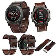 billiga Smart klocka Tillbehör-Klockarmband för Fenix 5x Garmin Läderloop Läder Handledsrem
