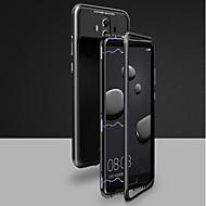 Кейс для Назначение Huawei Mate 10 pro / Mate 10 Магнитный Чехол Однотонный Твердый Закаленное стекло для Huawei Honor 10 / Mate 10 / Mate 10 pro