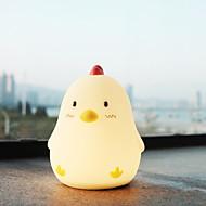 billige Skrivebordslamper-1pc Chick LED Night Light Usb Tegneserie / Berør sensoren / Bedårende <=36 V