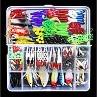 141 pcs Cebos Señuelos duros Señuelos blandos / Vinilos Material Mixto Fácil de Usar Flotante Pesca de Mar Pesca a la mosca Pesca de baitcasting / Pesca en hielo / Pesca al spinning / Pesca jigging