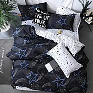 billige Moderne dynetrekk-dynetrekk setter moderne poly / bomullsreaktive trykk 4 stk sengetøy sett / 300/4 stk (1 dyne deksel, 1 flat ark, 2 shams) konge