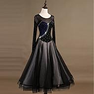 Balo Dansı Elbiseler Kadın's Eğitim Naylon / Organze / Tül Kristaller / Yapay Elmaslar Uzun Kollu Yüksek Elbise