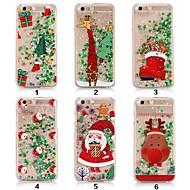 billiga Mobil cases & Skärmskydd-fodral Till Apple iPhone XR / iPhone XS Max Flytande vätska / Genomskinlig / Mönster Skal Glittrig / Jul Mjukt TPU för iPhone XS / iPhone XR / iPhone XS Max