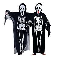 Spøgelse Cosplay Kostumer Halloweentillbehör Unisex Børne Voksne Halloween Halloween Maskerade Festival / Højtider Halloween Kostumer Udklædning Sort Dødningehoveder