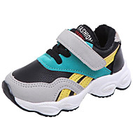 baratos Sapatos de Menino-Para Meninos / Para Meninas Sapatos Couro Sintético Outono & inverno Conforto Tênis Elástico / Velcro para Infantil / Bébé Amarelo / Azul