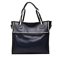 baratos Bolsas Tote-Mulheres Bolsas Pele Tote Ziper Preto / Azul Escuro