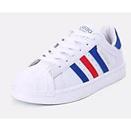 baratos Sapatos de Tamanho Pequeno-Homens Mocassim Couro Ecológico Verão Tênis Branco / Branco / Preto / Branco / azul