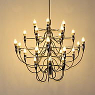 billige Takbelysning og vifter-Ecolight™ Candle-stil / Sputnik Lysekroner Omgivelseslys galvanisert Metall Kreativ, Nytt Design, Stearinlys Stil 110-120V / 220-240V Pære ikke Inkludert / E12 / E14 / FCC