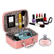 tanie Przechowywanie biżuterii-Przechowywanie Organizacja Kosmetyczny makijaż organizator Skóra PU Kształt prostokąta Flip-open Cover