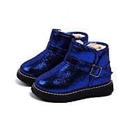 baratos Sapatos de Menina-Para Meninos / Para Meninas Sapatos Couro Ecológico Primavera & Outono / Primavera Verão Conforto / Botas de Neve Botas Caminhada Presilha / Combinação para Infantil Preto / Fúcsia / Azul Real