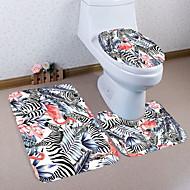 cheap Mats & Rugs-3 Pieces Traditional / Modern Bath Mats 100g / m2 Polyester Knit Stretch Creative Rectangle Bathroom Cute