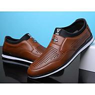 baratos Sapatos Masculinos-Homens Sapatos Confortáveis Microfibra Primavera & Outono Mocassins e Slip-Ons Preto / Marron / Azul