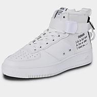 tanie Obuwie damskie-Damskie Komfortowe buty Płótno / Syntetyki Zima Sportowy / Vintage Adidasy Płaski obcas Biały / Czarny