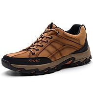 baratos Sapatos Masculinos-Homens Sapatos de couro Pele Napa Inverno Vintage / Casual Tênis Manter Quente Café / Marron