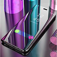 billiga Mobil cases & Skärmskydd-fodral Till Apple iPhone XS / iPhone XR med stativ / Spegel / Lucka Fodral Enfärgad Hårt PU läder för iPhone XS / iPhone XR / iPhone XS Max
