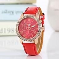 สำหรับผู้หญิง นาฬิกาข้อมือ นาฬิกาอิเล็กทรอนิกส์ (Quartz) PU Leather ดำ / สีขาว / ฟ้า นาฬิกาใส่ลำลอง ระบบอนาล็อก ไม่เป็นทางการ แฟชั่น - สีเขียว ฟ้า สีชมพู หนึ่งปี อายุการใช้งานแบตเตอรี่