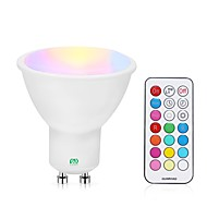 billige Spotlys med LED-YWXLIGHT® 1pc 5 W 400-500 lm GU10 LED-spotpærer 24 LED perler SMD Mulighet for demping / Fjernstyrt RGBW / RGBWW 85-265 V
