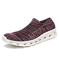 baratos Sapatos de Tamanho Pequeno-Unisexo Sapatos Confortáveis Tricô / Tecido elástico Outono & inverno Casual Tênis Caminhada Respirável Estampa Colorida Azul Marinho / Azul / Branco / Preto