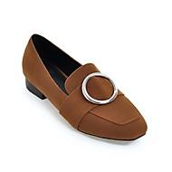 baratos Sapatos Femininos-Mulheres Sapatos Confortáveis Camurça Primavera Verão Mocassins e Slip-Ons Salto de bloco Preto / Camel / Castanho Escuro