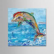 billiga Abstrakta målningar-Hang målad oljemålning HANDMÅLAD - Abstrakt Moderna Inkludera innerram / Sträckt kanfas