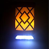 billige Utendørs Lampeskjermer-EXUP® 1pc 5 W Solar Wall Light Solar / Dekorativ / Kul Gul + kald hvit 3.7 V Utendørsbelysning / Courtyard / Have