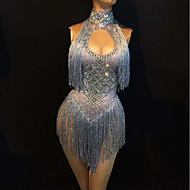cheap -Dance Costumes Exotic Dancewear / Nightclub Jumpsuits Women's Performance Spandex Glitter / Tassel Sleeveless Leotard / Onesie