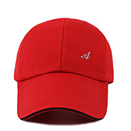 Men's Polyester Baseball Cap-Solid Colored White Black Red