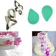 billige Bakeredskap-5 stk sommerfugl orkidé petal blomsterkutter kake dekorere molds fondant sugarcraft