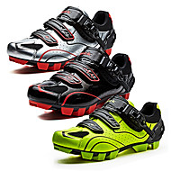 cheap Sports & Outdoors-SANTIC Mountain Bike Shoes Nylon Anti-Slip, Fast Dry, Ultra Light (UL) Cycling Black / White / Black / Red / fluorescent green Men's / Breathable Mesh / Breathable / Hook and Loop