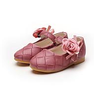 baratos Sapatos de Menina-Para Meninas Sapatos Couro Ecológico Primavera & Outono / Primavera Verão Conforto / Sapatos para Daminhas de Honra Rasos Caminhada Flor / Velcro para Infantil Verde / Rosa claro / Vinho