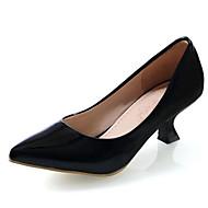 Жен. Комфортная обувь Полиуретан Весна Обувь на каблуках На низком каблуке Черный / Зеленый / Розовый / Повседневные