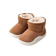 baratos Sapatos de Menino-Para Meninos / Para Meninas Sapatos Camurça Inverno Conforto / Botas de Neve Botas para Bébé Café / Rosa claro / Camel / Botas Curtas / Ankle